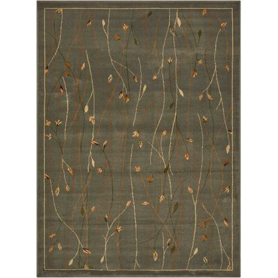 Rouseville Green Area Rug Rug Size: 53 x 73