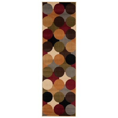 Rouseville Green/Orange Area Rug Rug Size: Runner 22 x 73