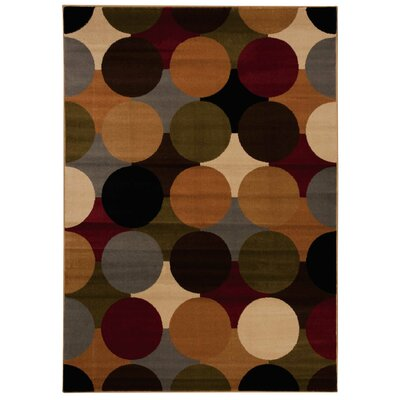 Rouseville Green/Orange Area Rug Rug Size: 311 x 510