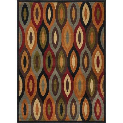 Rouseville Orange/Gray Area Rug Rug Size: 53 x 73