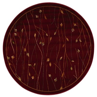 Rouseville Burgundy Area Rug Rug Size: Round 53