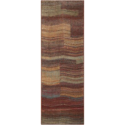 Smithtown Aqua/Brown Area Rug Rug Size: Runner 23 x 8