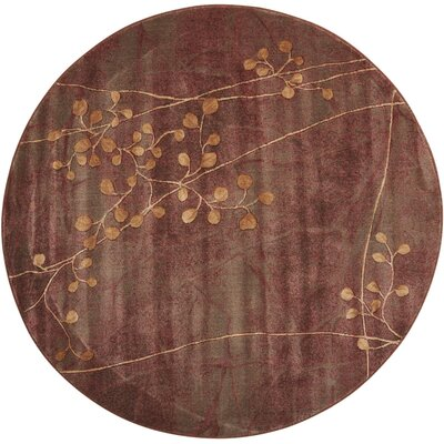 Smithtown Brown Area Rug Rug Size: Round 56