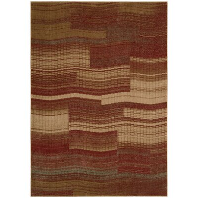 Smithtown Flame Area Rug Rug Size: Rectangle 56 x 75