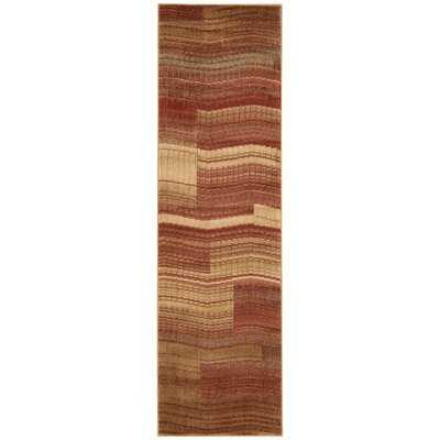 Smithtown Flame Area Rug Rug Size: Runner 23 x 8