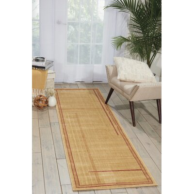 Smithtown Gold Area Rug Rug Size: Runner 23 x 8