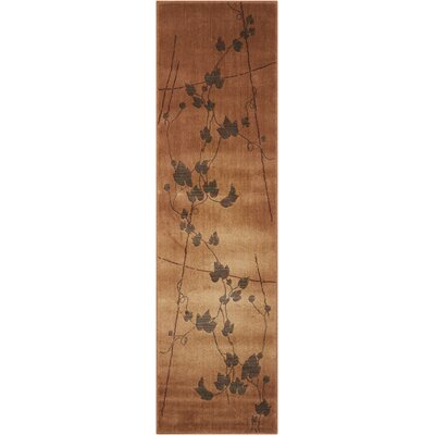 Smithtown Gold Pattern Area Rug Rug Size: Runner 2 x 59