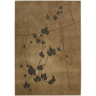 Smithtown Gold Pattern Area Rug Rug Size: 56 x 75