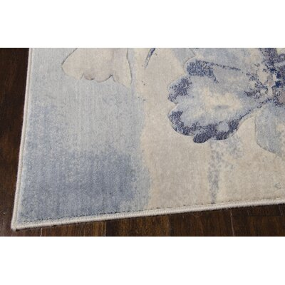 Smithtown Ivory/Blue Area Rug Rug Size: Rectangle 26 x 4
