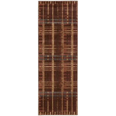 Smithtown Brown/Red Area Rug Rug Size: Runner 2 x 7
