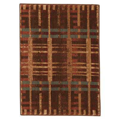 Smithtown Brown/Red Area Rug Rug Size: 2 x 3
