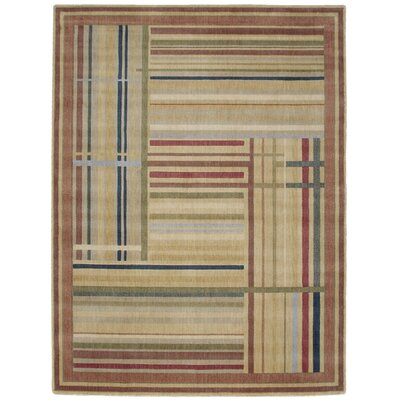 Smithtown Beige/Green/Blue Area Rug Rug Size: Rectangle 36 x 56