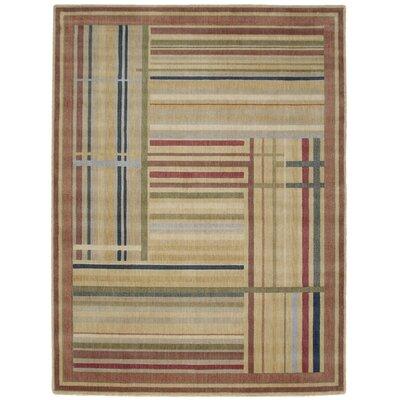 Smithtown Beige/Green/Blue Area Rug Rug Size: 56 x 75