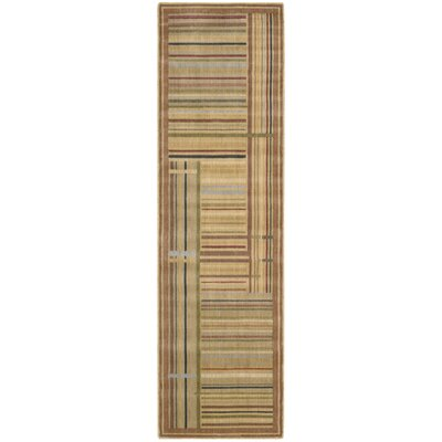 Smithtown Beige/Green/Blue Area Rug Rug Size: Runner 2'3