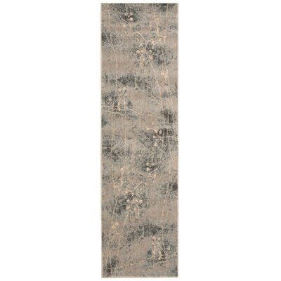 Smithtown Silver/Blue Area Rug Rug Size: Runner 2 x 59