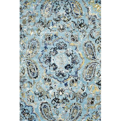 Stoneham Aqua Area Rug Rug Size: Rectangle 9 x 12