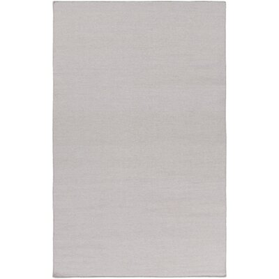 Aden Hand Woven Light Gray Area Rug Rug Size: Rectangle 5 x 76