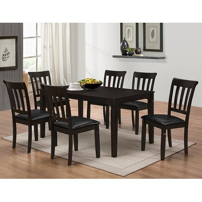 Winnetka 7 Piece Brown Wood Dining Set