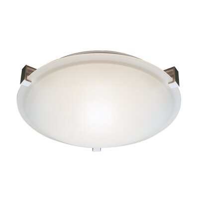 Sande 1-Light Flush Mount Finish: Brushed Nickel