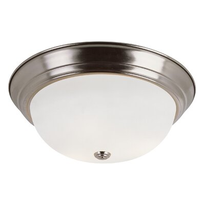Sandia 3-Light Flush Mount Finish: Brushed Nickel