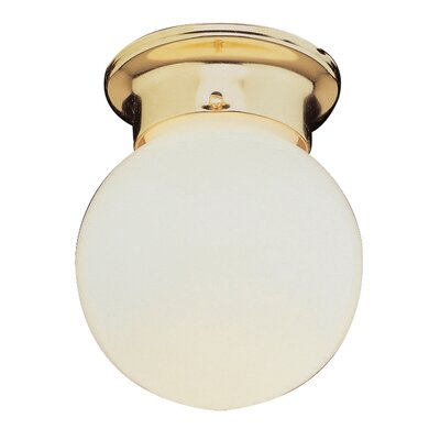 Sattler 1-Light Flush Mount Finish: Brass