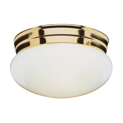 Graciela 1-Light Flush Mount Finish: Brass