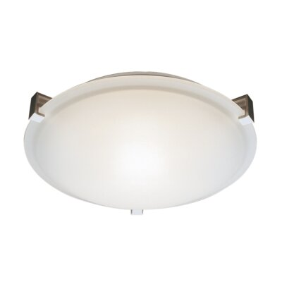 Schooner 2-Light Flush Mount Finish: Brushed Nickel