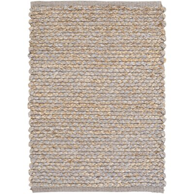 Anna Hand-Woven Medium Gray/Khaki Area Rug Rug size: Rectangle 5 x 76