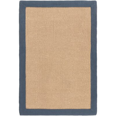 Sasha Hand-Woven Navy Jute Area Rug Rug Size: Rectangle 9 x 13