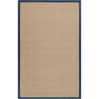 Sasha Hand-Woven Navy Jute Area Rug Rug Size: Rectangle 5 x 8