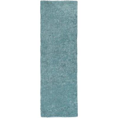 Infant Teal Area Rug Rug size: Runner 26 x 8