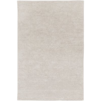Infant Rectangle Light Gray Area Rug Rug size: Rectangle 4 x 6