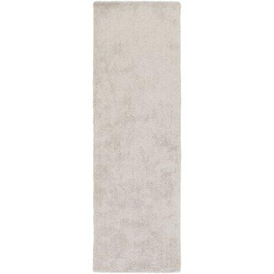 Infant Rectangle Light Gray Area Rug Rug size: Runner 26 x 8