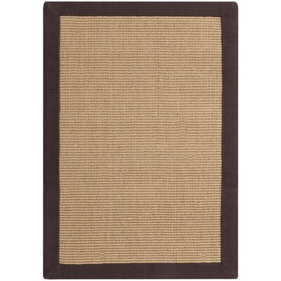 Sasha Hand-Woven Chocolate Jute Area Rug Rug Size: Rectangle 2 x 3