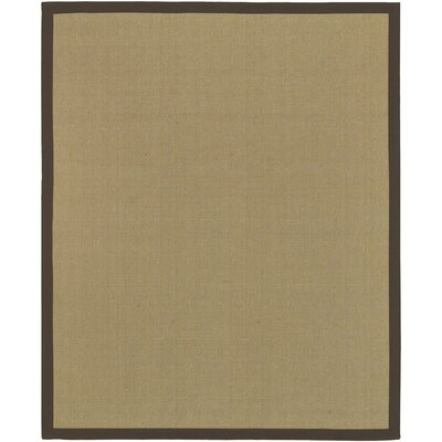 Sasha Hand-Woven Chocolate Jute Area Rug Rug Size: Rectangle 8 x 10