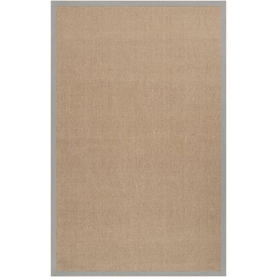 Sasha Putty Hand-Woven Jute Area Rug Rug Size: Rectangle 2' x 3'
