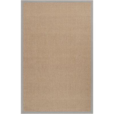 Sumner Hand-Woven Tan Area Rug Rug size: 5 x 8