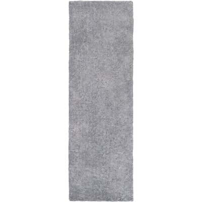 Infant Light Gray Area Rug Rug size: Runner 26 x 8