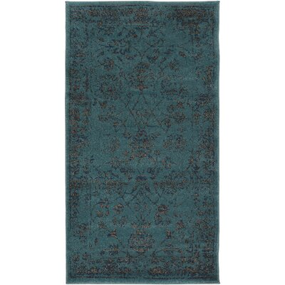 Wren Emerald Area Rug Rug size: Rectangle 710 x 106