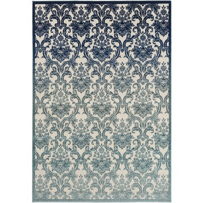 Abrianna Navy Area Rug Rug size: Rectangle 53 x 76