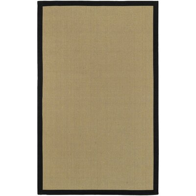 Sasha Hand-Woven Black Jute Area Rug Rug Size: Rectangle 5 x 8