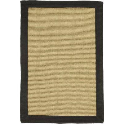 Sumner Hand-Woven Tan/Black Area Rug Rug size: 9 x 13