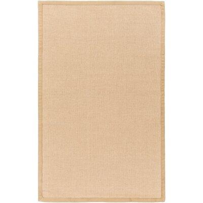 Sumner Hand-Woven Tan/Tan Area Rug Rug size: 9 x 13