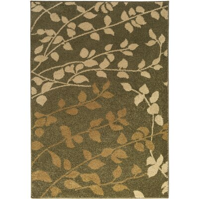 Demetria Floral and Plants Multi Area Rug Rug Size: 52 x 76