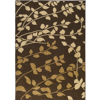 Demetria Carafe Brown/Dijon Area Rug Rug Size: Rectangle 52 x 76