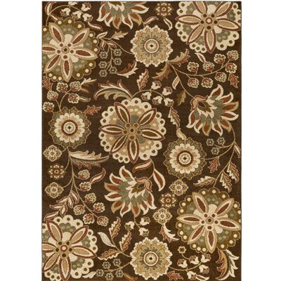 Demetria Brown/Beige Multi Area Rug Rug Size: 52 x 76