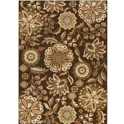 Demetria Brown/Beige Multi Area Rug Rug Size: 76 x 106