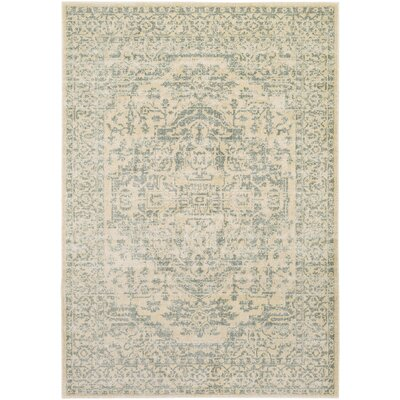 Alderman Green/Beige Area Rug Rug Size: Rectangle 110 x 211