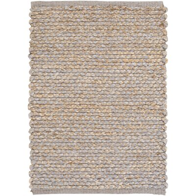 Hand-Woven Medium Gray/Khaki Area Rug Rug size: Runner 26 x 8