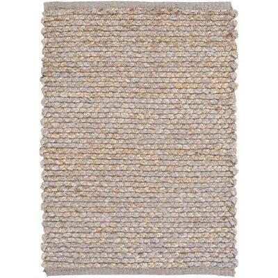 Hand-Woven Medium Gray/Khaki Area Rug Rug size: 5 x 76
